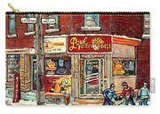 Restaurant Paul Patate Pte St Charles Montreal Verdun Paintings Hockey Art City Scenes Cspandau Carry-all Pouch