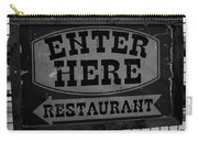 Restaurant Sign  Carry-all Pouch