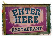 Restaurant Sign Color Carry-all Pouch