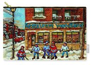 Restaurant Woodland Pizza Rue Wellington Verdun Original Hockey Art Montreal Paintings Commissions   Carry-all Pouch