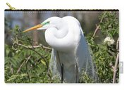 Resting Great Egret Carry-all Pouch