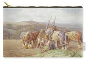 Resting In The Field  Carry-all Pouch by Charles James Adams