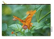 Resting Orange Butterfly Carry-all Pouch