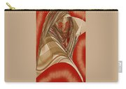 Resting Woman - Portrait In Red Carry-all Pouch