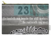 Restoreth My Soul- Contemporary Christian Art Carry-all Pouch by Linda Woods