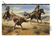 Restraint 2 Cowboys Roping A Steer Carry-all Pouch