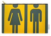 Restroom Sign Symbol For Men And Women Carry-all Pouch