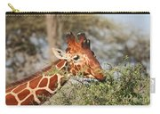 Reticulated Giraffe Browsing Acacia Kenya Carry-all Pouch