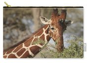 Reticulated Giraffe Feeding On Acacia Carry-all Pouch