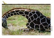 Reticulated Giraffe On Ground Carry-all Pouch