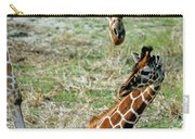 Reticulated Giraffe With Calf Carry-all Pouch