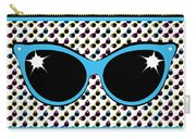 Retro Blue Cat Sunglasses Carry-all Pouch