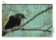 Retro Blue - Crow Carry-all Pouch