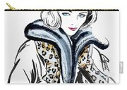 Retro Leopard Fashion Statement Carry-all Pouch by GG Burns