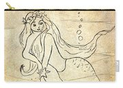 Retro Mermaid Carry-all Pouch