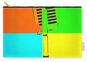 Retro Microphone Pop Art 2 Carry-all Pouch