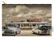 Retro Photo Of Historic Rosie's Diner With Vintage Automobiles Carry-all Pouch