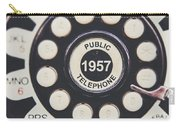 Retro Telephone 1957 Public Telephone Carry-all Pouch