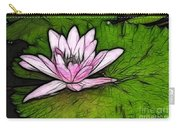 Retro Water Lilly Carry-all Pouch by Bob Christopher