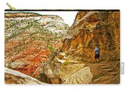 Return Trip On Hidden Canyon Trail In Zion National Park-utah Carry-all Pouch