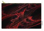 Rhapsody In Red V - Panorama - Abstract - Fractal Art Carry-all Pouch by Andee Design