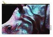 Rhino 1 - Rhinoceros Art Prints Carry-all Pouch by Sharon Cummings