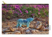Rhino And Bougainvillea Carry-all Pouch
