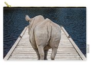 Rhino On The Dock Carry-all Pouch