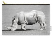 Rhinoceros Charcoal Drawing Carry-all Pouch