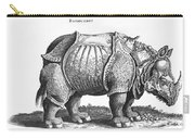 Rhinoceros No 76 From Historia Animalium By Conrad Gesner  Carry-all Pouch