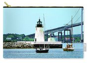 Rhode Island - Lighthouse Bridge And Boats Newport Ri Carry-all Pouch