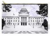 Rhode Island State House Bw Carry-all Pouch
