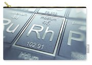Rhodium Chemical Element Carry-all Pouch
