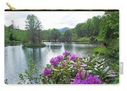 Rhododendron Blossoms And Mountain Pond Carry-all Pouch