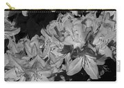 Rhododendron Heaven In Black And White Carry-all Pouch