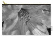 Rhododendron In Black And White Carry-all Pouch