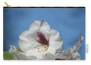Rhododendron In White And Burgundy Carry-all Pouch