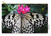 Rice Paper Butterfly On Pink Carry-all Pouch