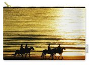 Rider Silhouettes Against The Sea Carry-all Pouch