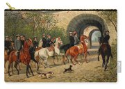 Riders At Uppsala Castle Carry-all Pouch