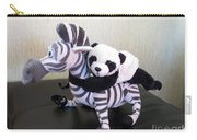 Riding A Zebra.traveling Pandas Series Carry-all Pouch