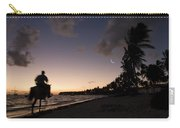 Riding On The Beach Carry-all Pouch by Adam Romanowicz