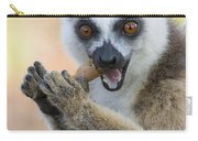 Ring-tailed Lemur Cracking Seed Pod Carry-all Pouch