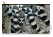 Ring-tailed Lemur Lemur Catta Group Carry-all Pouch