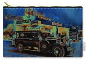 Rio Grande Homage 1950  Gas Station And Vehicle C.1935 Carry-all Pouch