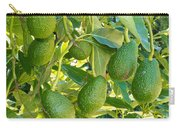 Ripe Avocado Fruits Growing On Tree As Crop Carry-all Pouch