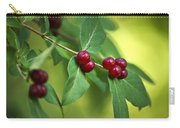 Red Berries Botanical Christmas Art Carry-all Pouch