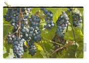 Ripe Purple Grapes On Vine  Carry-all Pouch