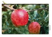 Ripe Red Apples On Tree Carry-all Pouch