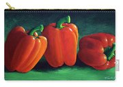 Ripe Red Peppers Carry-all Pouch
